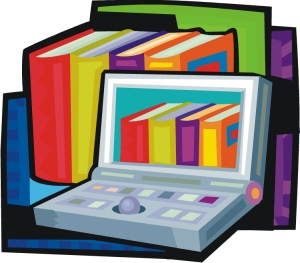 Laptops and paper books
