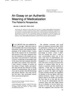 Beverly Hall's article in ANS