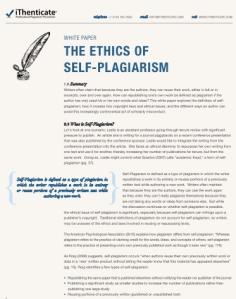 Self-Plariarism White Paper