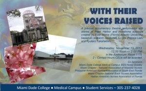 Invitation to performance, Miami Dade College, November 13, 2013