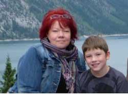 Deanna Bickford with her grandson!